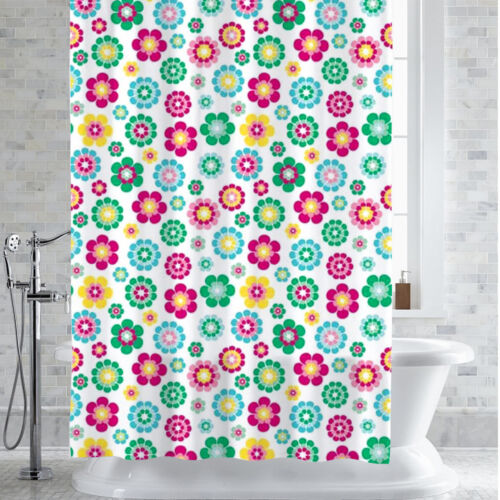 "PEVA-EVA Shower Curtain//Liner Alexia Floral Print 70/"" x 72/"""