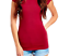 Women-Basic-Short-Sleeve-Stretch-V-Neck-Plain-Top-Solid-Color-T-Shirt-S-3XL