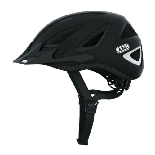 Abus Urban-I 2.0 Bike Helmet with Rear Light for Safety Medium, Velvet Black