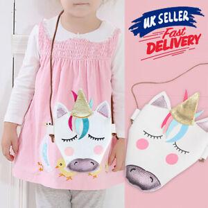 Kids-Girls-Messenger-Gifts-Unicorn-Shoulder-Bag-Crossbody-Purse-Wallet-Handbag