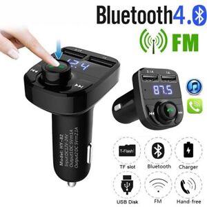 Wireless-Bluetooth-Handsfree-Car-Kit-FM-Transmitter-MP3-Player-Dual-USB-Charger
