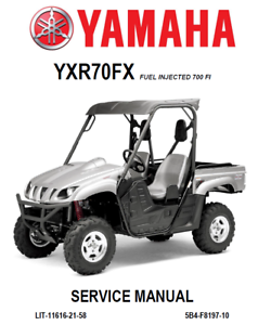 yamaha rhino 700 fi service repair manual maintenance workshop book rh ebay com yamaha rhino 700 service manual 2009 2011 yamaha rhino 700 service manual