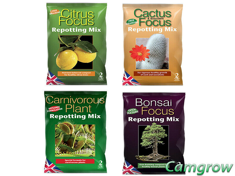 Growth Technology Focus Repotting Range Cactus, Citrus, Bonsai & Carnivorous