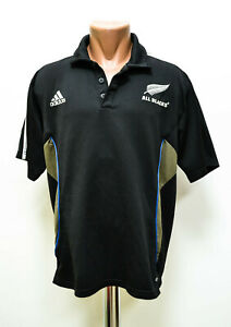 NEW-ZEALAND-ALL-BLACK-TRAINING-RUGBY-POLO-JERSEY-ADIDAS-SIZE-XL-ADULT