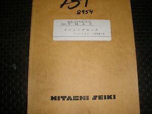 hitachi seiki vm40 milling machine parts manual english french rh ebay com hitachi seiki manuals tf 15 hitachi seiki manuals tf 15