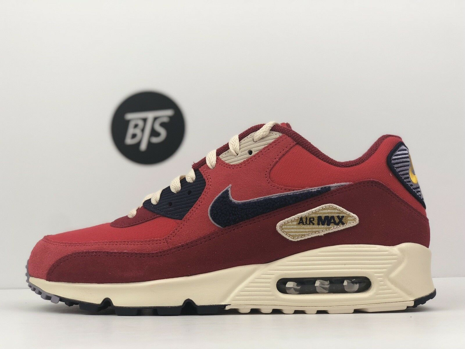 "Men's Nike Air Max 90 Premium SE ""Red"" Size-8 University Red (858954 600)"