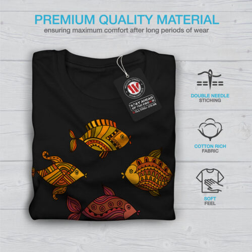 Wellcoda Art Fish Nature Animal Womens Long Sleeve T-shirt Gold Casual Design