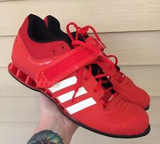 Adidas Mens Adipower Red White Weight Lifting Shoes Sz 13.5 NO INSOLES