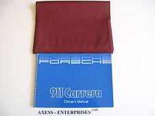 1985 1986 Porsche 911 Carrera Cab Targa Owners Manual Driver Book OEM Pouch E165