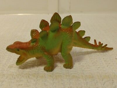 Toys & Hobbies Animals & Dinosaurs Confident Stegosaurus Grün & Orange Klein Hartplastik Dinosaurier T2383 Products Are Sold Without Limitations
