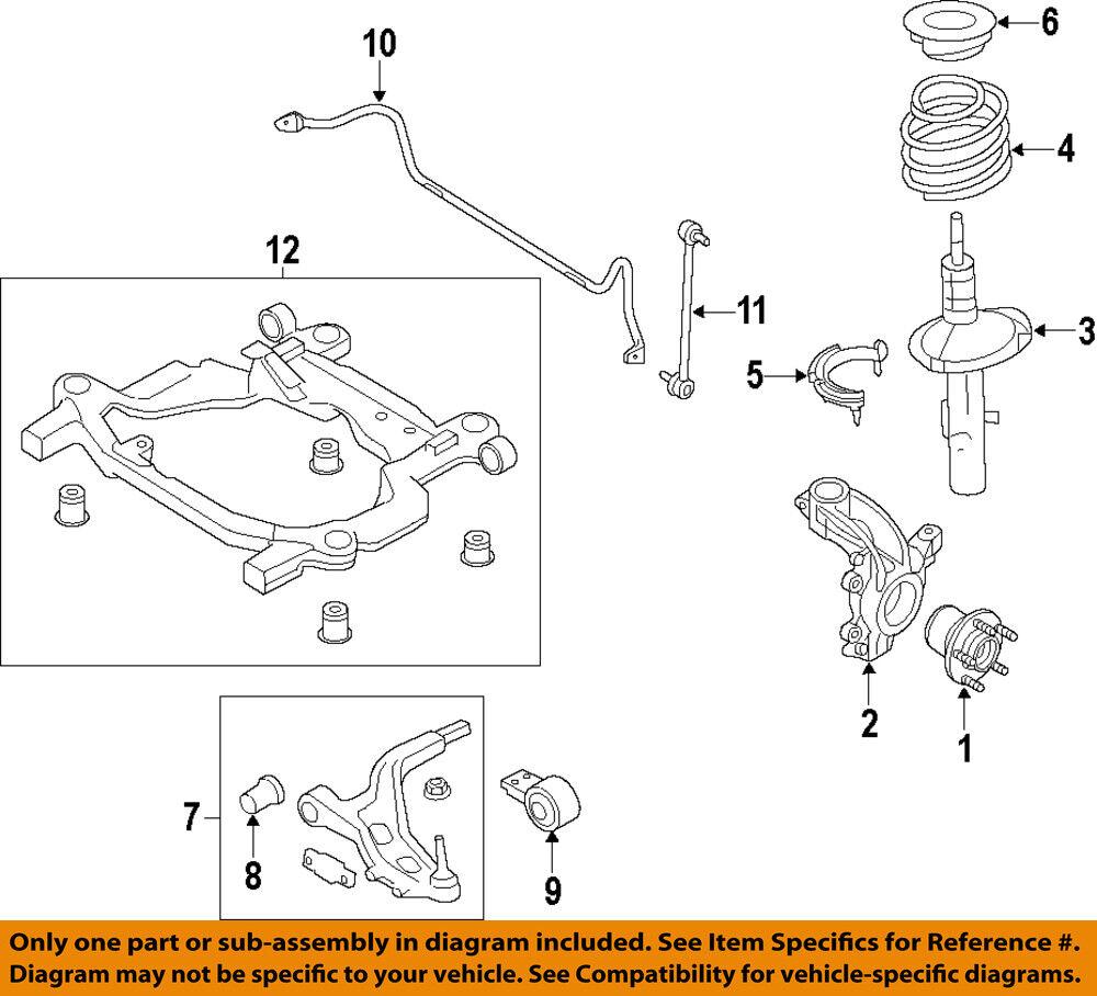 Suspension Strut and Coil Spring Assembly Front Left fits 11-12 Ford Explorer