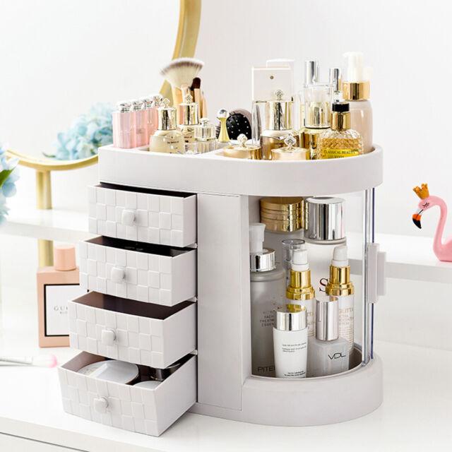 180° Desktop Cosmetic Makeup Organizer Storage Lipstick Rack Case Drawer 27.5cm
