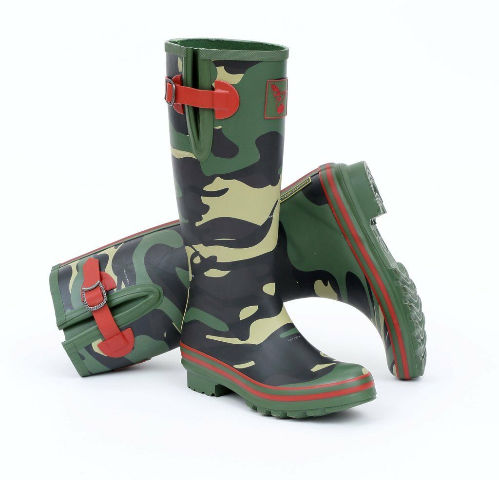Evercreatures in MIMETICO Gomma Camouflage Stivali Wellington MIMETICO in Wellys Tall Welly Stivale 4b2614