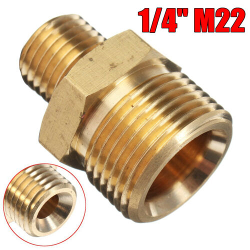 1//4/'/' Male x M22 Male Adaptor Pressure Washer Hose Connect Coupling For