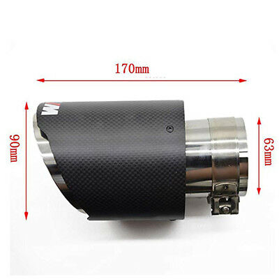 Carbon Fiber Exhaust Tips for BMW with M-POWER Muffler Pipe 63mm ID//90mm Outlet