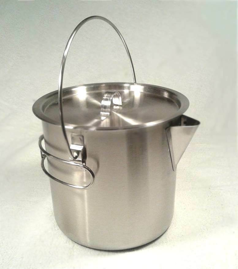 52 / 68 Oz Stainless Steel Camping Pot Cooking Kettle + SUPER LED Flash Light