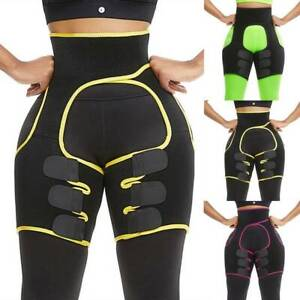 Slim Thigh High Waist Train Trimmer Exercise Wrap Belt Sauna Slimmer Body Shaper