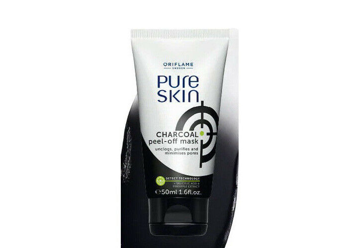 Oriflame Pure Skin Charcoal Peel Off Mask 1st Class Delivery Ebay