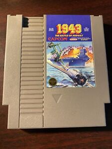1943 The Battle Of Midway Original Nintendo NES Authentic Game Tested & Working!