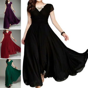 Women-039-s-Dress-Dresses-Gown-Sundress-Long-Maxi-Chiffon-Evening-Party-Bridesmaid