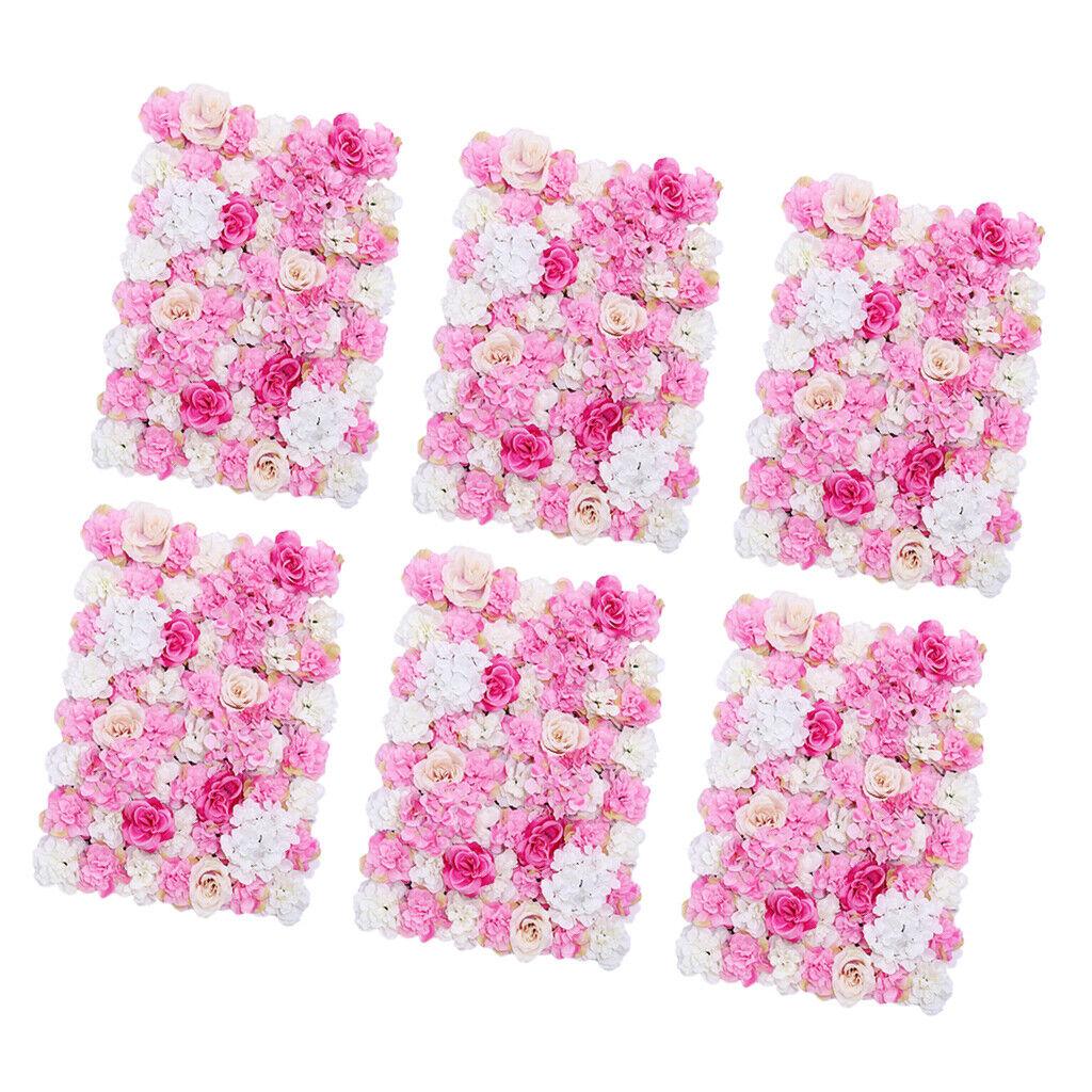 6 morceaux artificielle rose fleur tableau noir mariage fond fleur