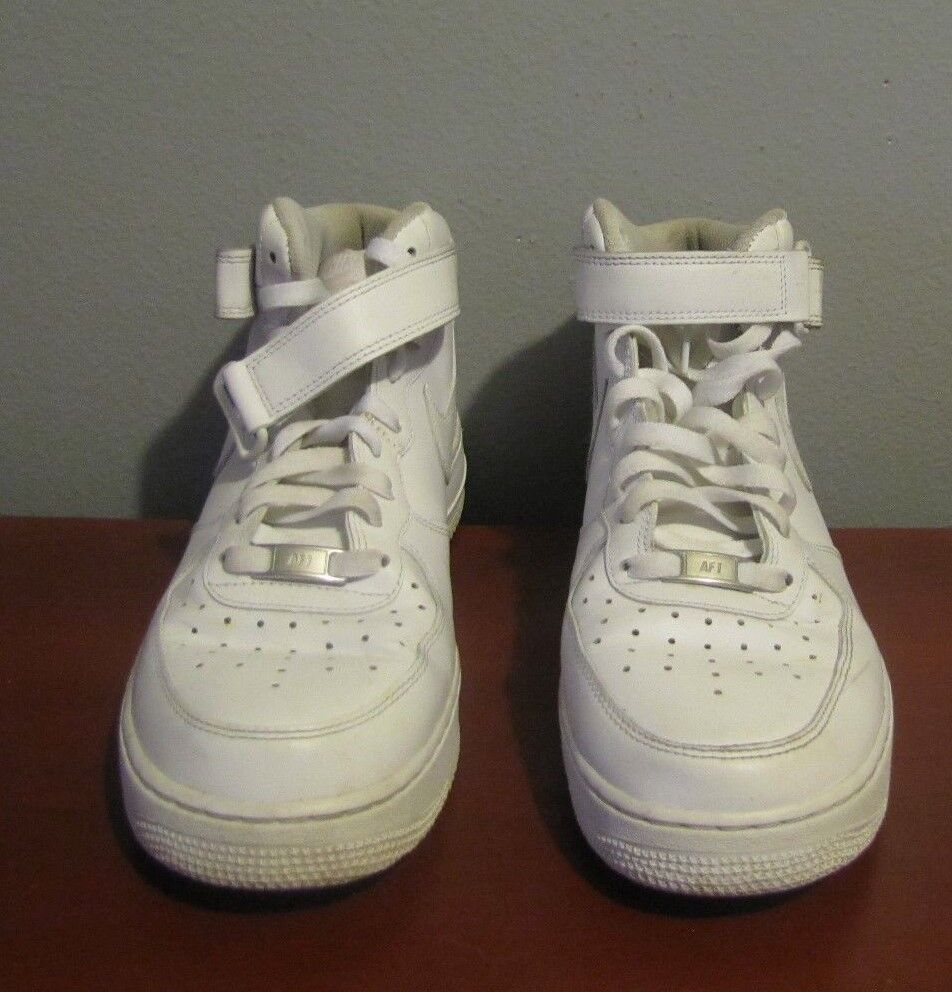 Nike Air Force 1 Mid '07 Men's shoes White White 315123-111 sIZE 9.5