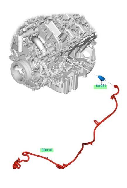 oem new 2017-2018 ford f-150 block heater cord, element- 3 5