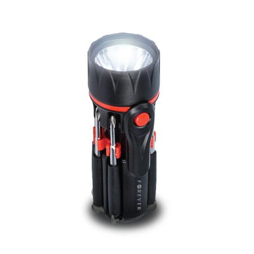Cadenis LED linterna 14 LEDs con personal láser de grabado negro 12 x 3 cm
