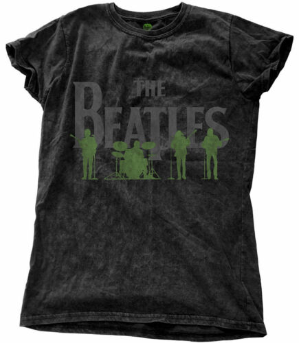 NEW /& OFFICIAL! The Beatles /'Saville Row Line Up/' Womens Snow Wash T-Shirt