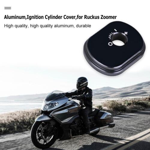 Billet Aluminum Motorcycle Ignition Cylinder Cover for Ruckus Zoomer Tool Black