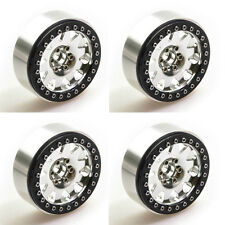 "4 Pcs 2.2"" Race Beadlock Wheel Rims Silver/Black for 1:10 Crawler Wraith RC Car"