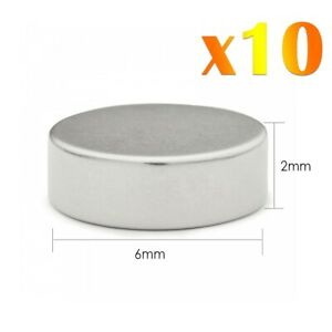 10-x-Neodymium-Fort-Rond-Magnets-Craft-Super-Disc-Rare-Terre-NdFeb-Grade-N35