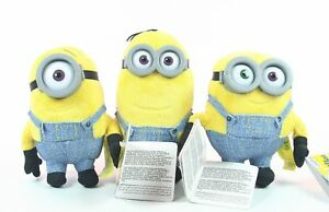 MINIONS-cute-KEVIN-STUART-BOB-6-034-plush-set-3-soft-toys-Despicable-Me-NEW