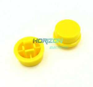 100pcs-Yellow-Round-Tactile-Button-Caps-For-12-12-7-3mm-Tact-Switches
