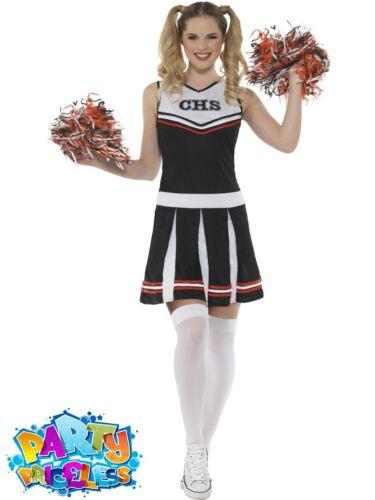 Adult Ladies Cheerleader Costume High School Musical Hen Party Women Fancy Dress