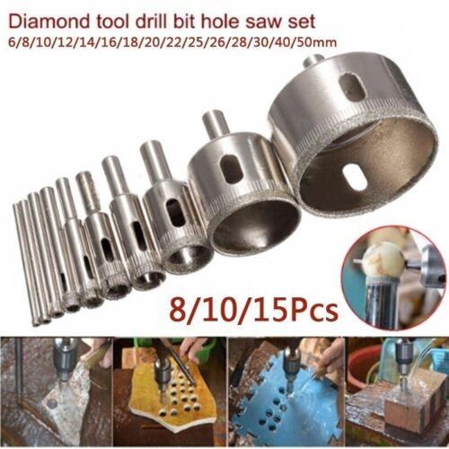 Diamond Drill Bits For Glass Ceramic Tile Porcelain Hole Maker Saw Cutting Set