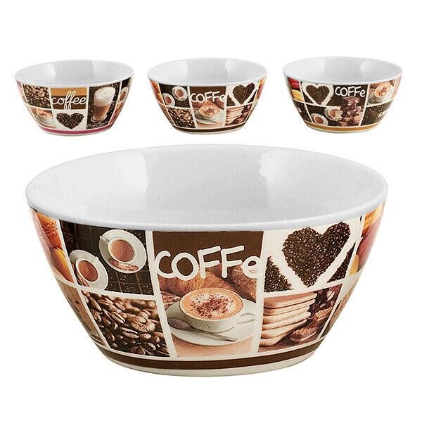 HOME Set 6 Bolo Cereali Porcellana Decorazione Coffee Cc540