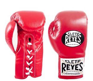 Details zu Cleto Reyes Safetec Professionell Geschnürt Training Boxhandschuhe Rot