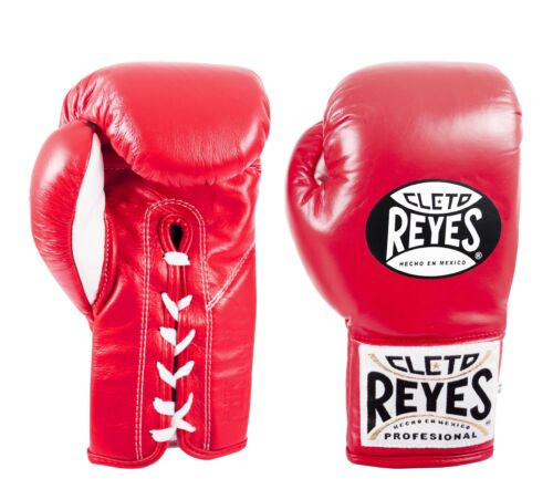 Cleto Reyes Safetec Professional Lace Up Training Boxing Gloves Red