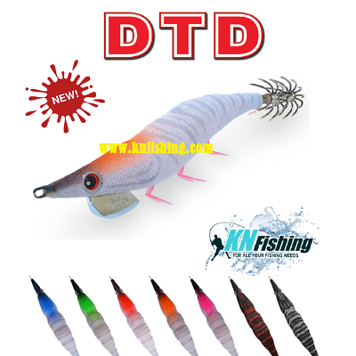 NEW DTD Squid Jig Diamond Oita GLOW SOUND EFFECT Size 3.0 ~ 90mm Color RED