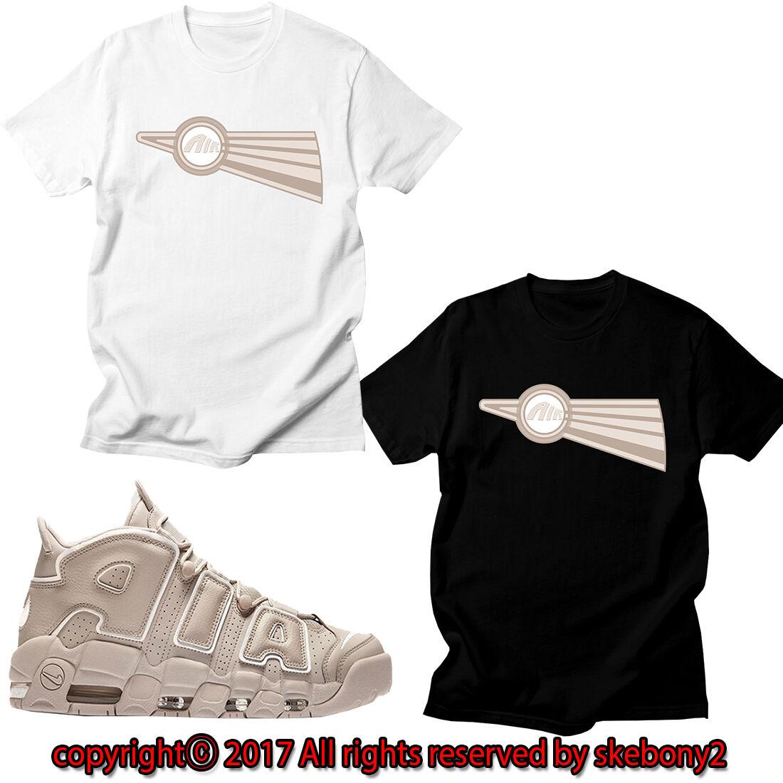 ae74e49ae NEW CUSTOM TEE Nike Air More Uptempo matching T SHIRT UTP 1-10-1 Light Bone  · image