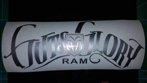 Ram Inspired Guts Glory Ram decal