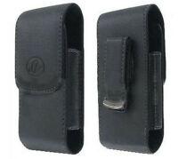 Vertical Leather Case Belt Swivel Clip For Consumer Cellular Doro Phone Easy 618