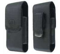 Black Leather Case Pouch Holster With Belt Clip For Att Sonim Xp5, Xp6