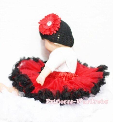 Xmas Newborn Baby Red Black Pettiskirts Skirts 3-12M