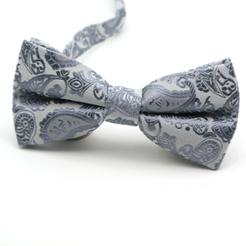 Men/'s Bowties  Paisley Floral Silk Bow Tie For Men Suit Wedding Butterfly