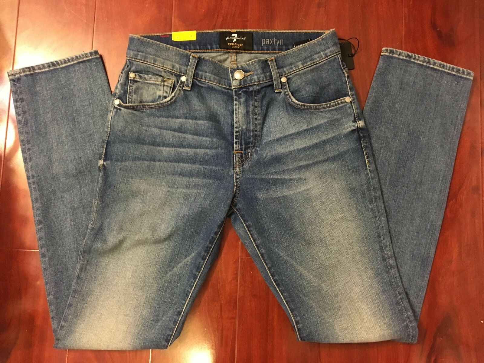 NEW 7 SEVEN FOR ALL MANKIND PAXTYN SKINNY LEG FOOLPROOF DENIM JEANS MEN SIZE 28