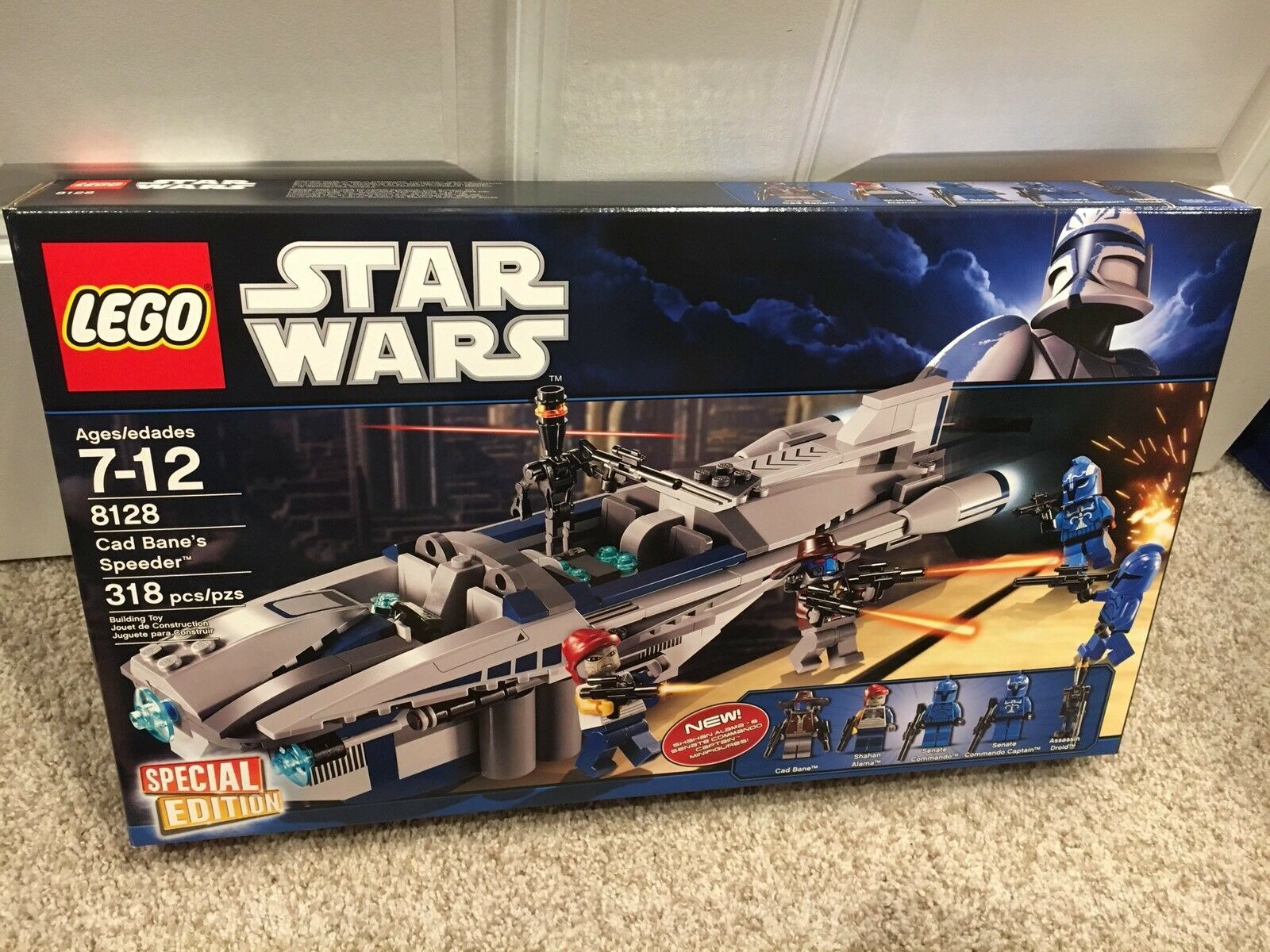 NIB Lego Star Wars 8128 CAD BANE'S SPEEDER Special Edition Banes Ship 5 Minifigs