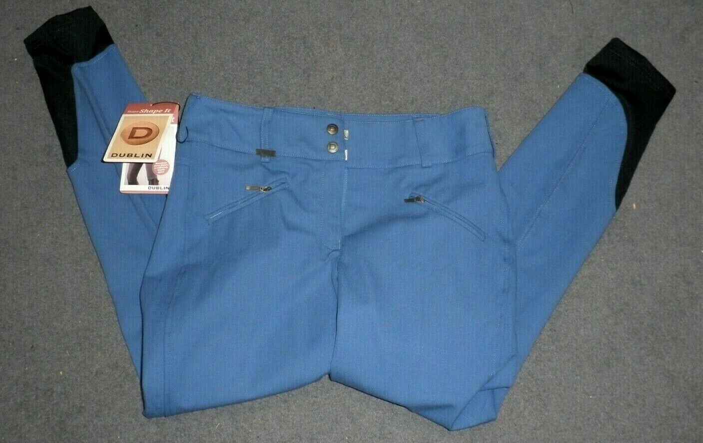 Dublin Supa Shape Heritage Clarino  Knee Breeches - Cobalt bluee -Size 12 30