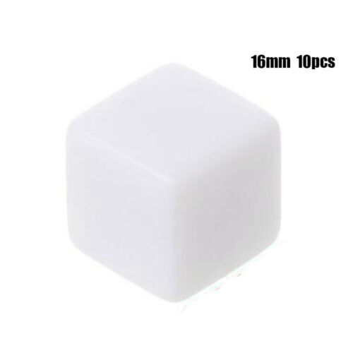 Angle Teaching Blank Dice Light Plate Gaming Dices Playing Game Accessories